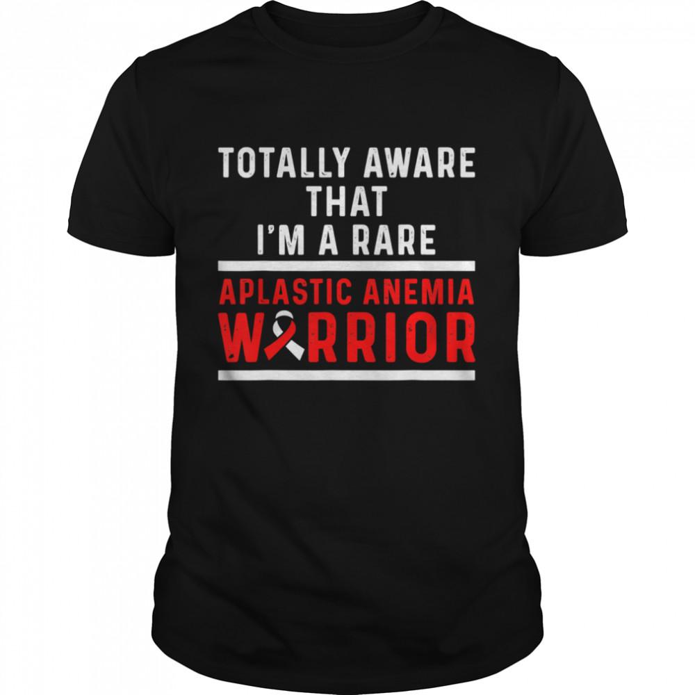 Aplastic Anemia Survivor Aware Anemic Warrior  Classic Men's T-shirt