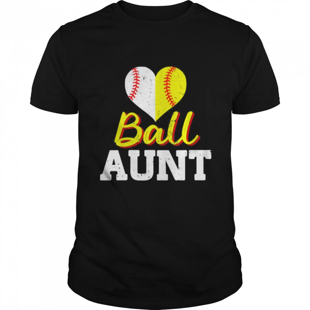 Baseball Softball Ball Heart Aunt Classic shirt Classic Men's T-shirt