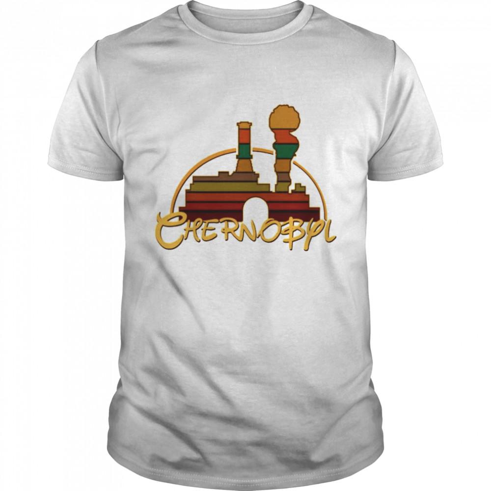 Disney chernobyl Nyonoksa radiation shirt Classic Men's T-shirt