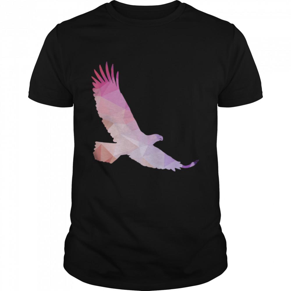 Elegant Flying Eagle Trippy Silhouette  Classic Men's T-shirt