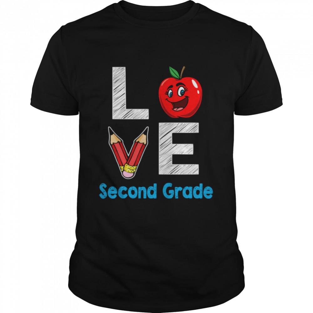 Ich liebe Lehrer der zweiten Klasse zurück zu Schule 2027  Classic Men's T-shirt
