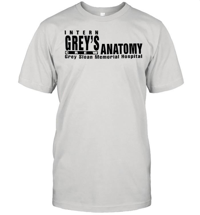 Intern Grey's Anatomy crew grey sloan memorial hospital shirt Classic Men's T-shirt
