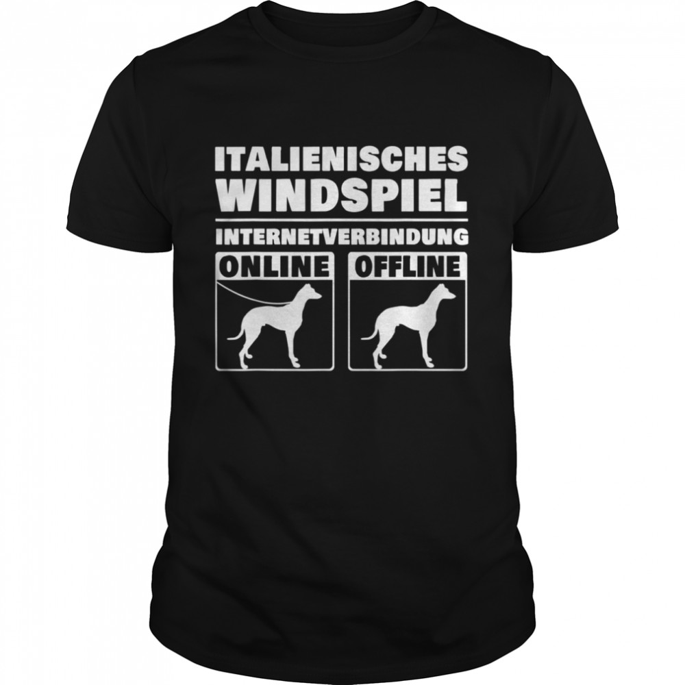 Italienisches Windspiel Online Italian Greyhound Windhund  Classic Men's T-shirt