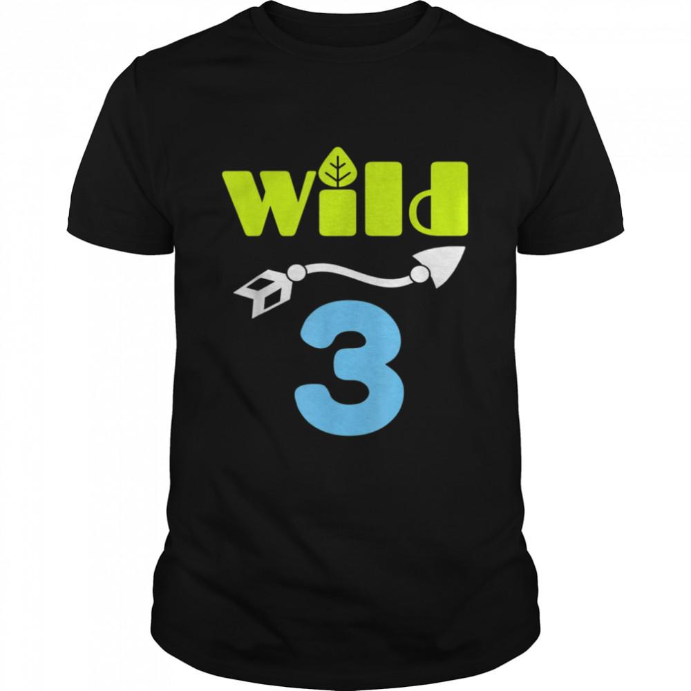 Wild 3 Birthday For 3yr Old Boy 3rd Birthday  Classic Men's T-shirt