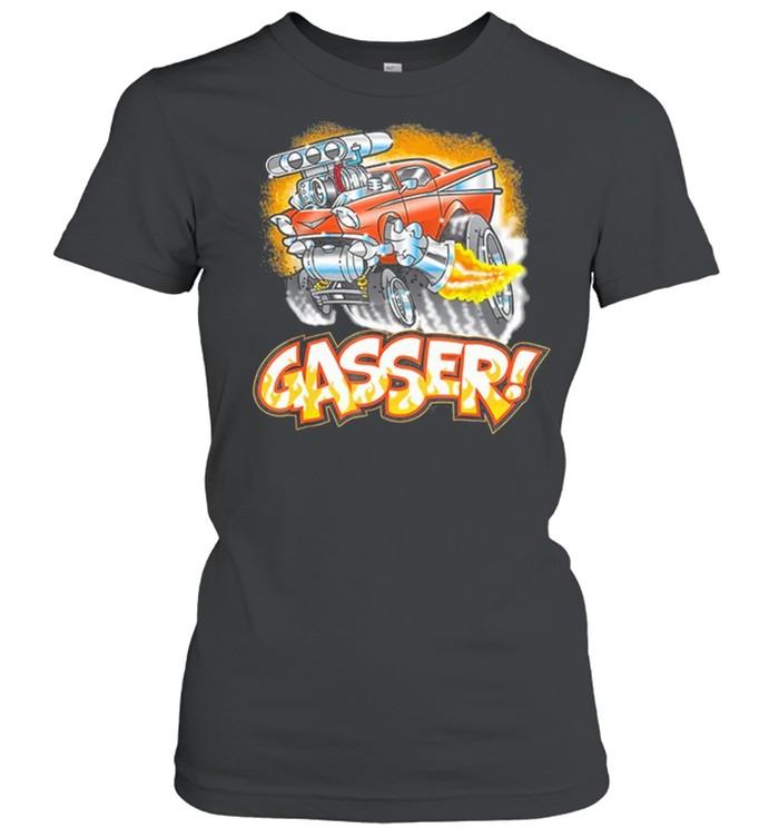 Hot Rod Gasser 57 Drag Racing Street Blown Car shirt Classic Women's T-shirt