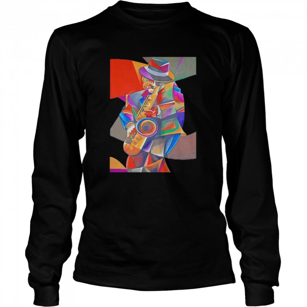 Jazz Sax Painting by Bob Gregory shirt Long Sleeved T-shirt