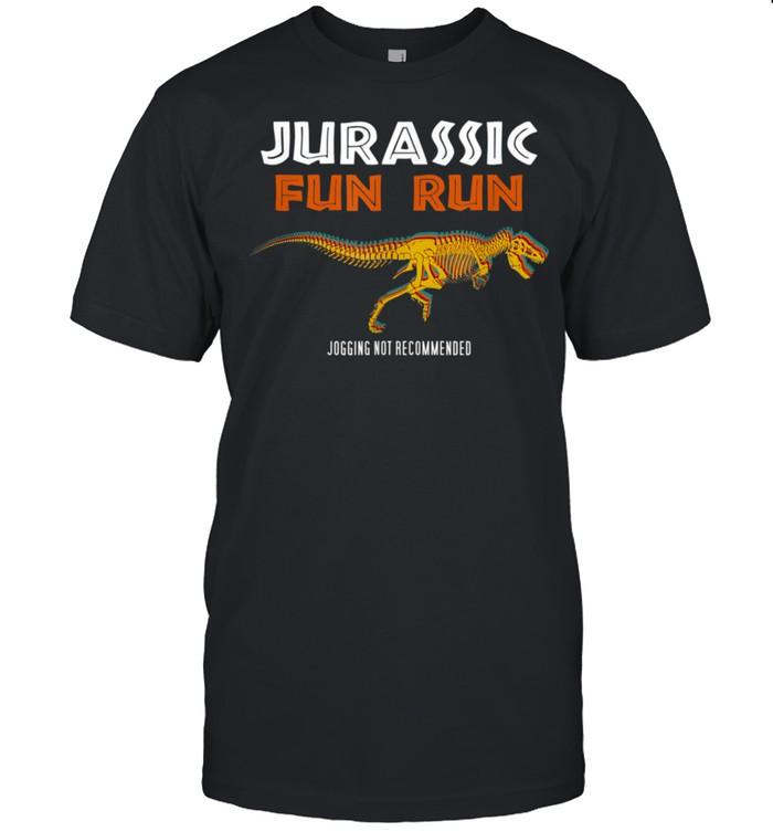Jurassic Fun Run Trex Skeleton Jogging Not Recommended shirt Classic Men's T-shirt