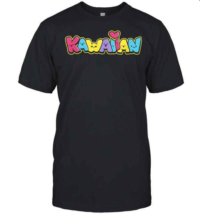 Kawaiian Community Graffitti with Fun Kawaii Faces  Classic Men's T-shirt