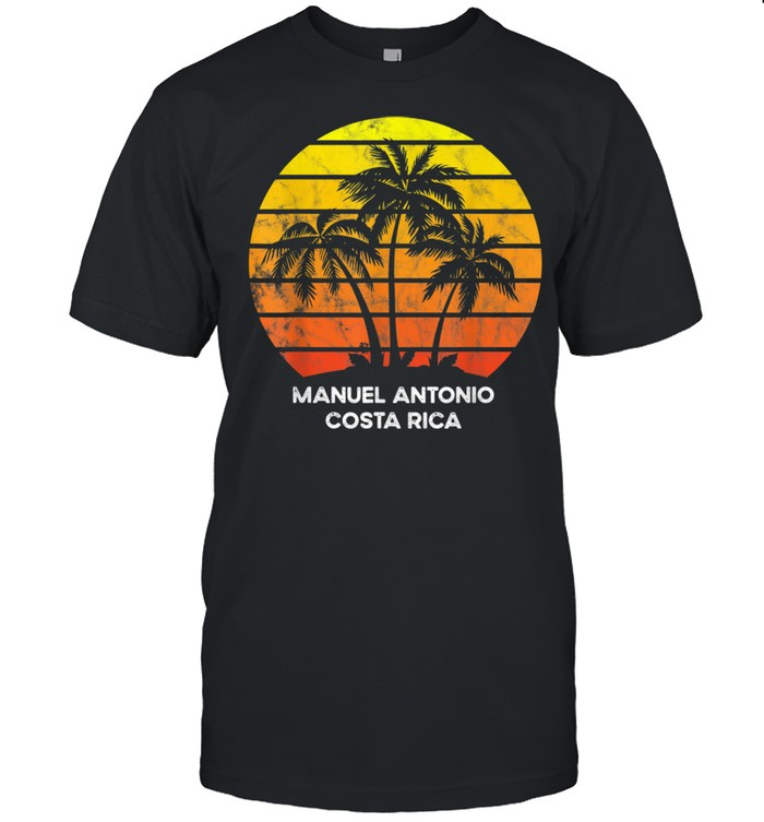 Manuel Antonio Costa Rica Beach Palm Tree for vacation shirt Classic Men's T-shirt