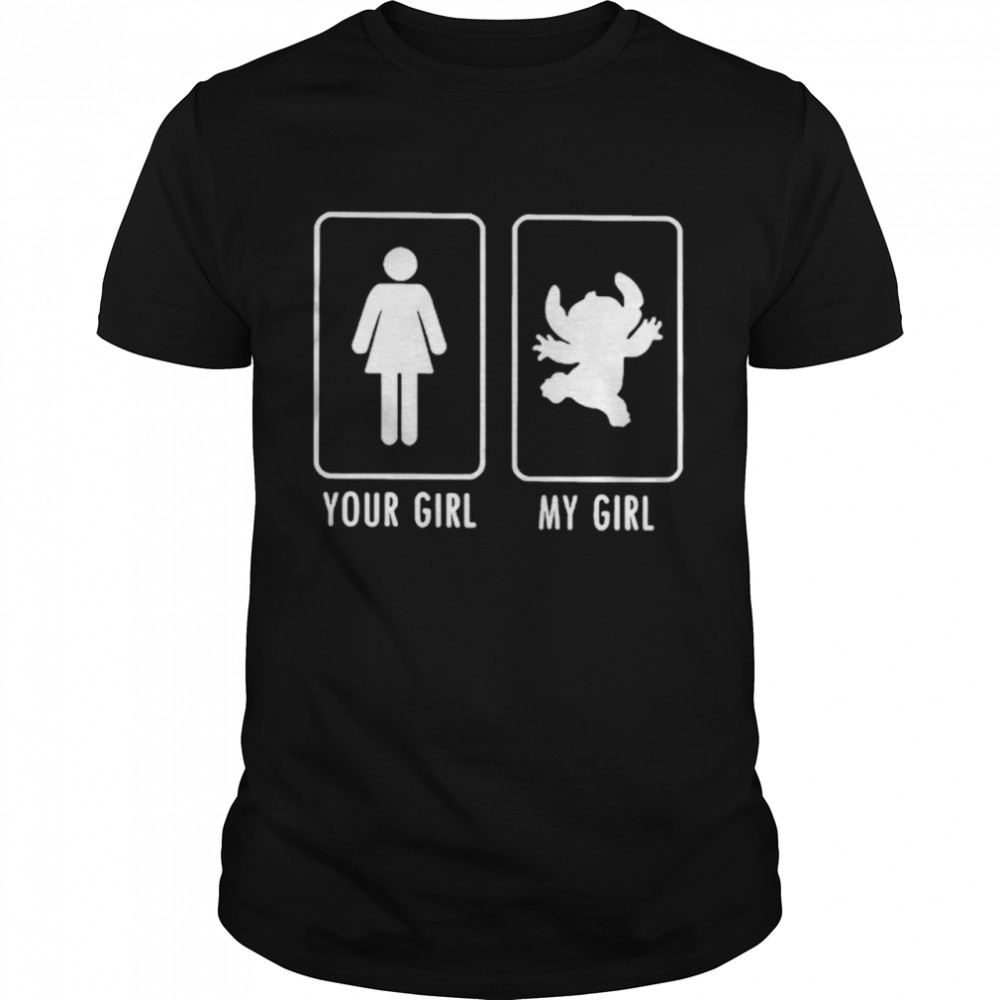 Your Girl And My Girl Stitch  Classic Men's T-shirt