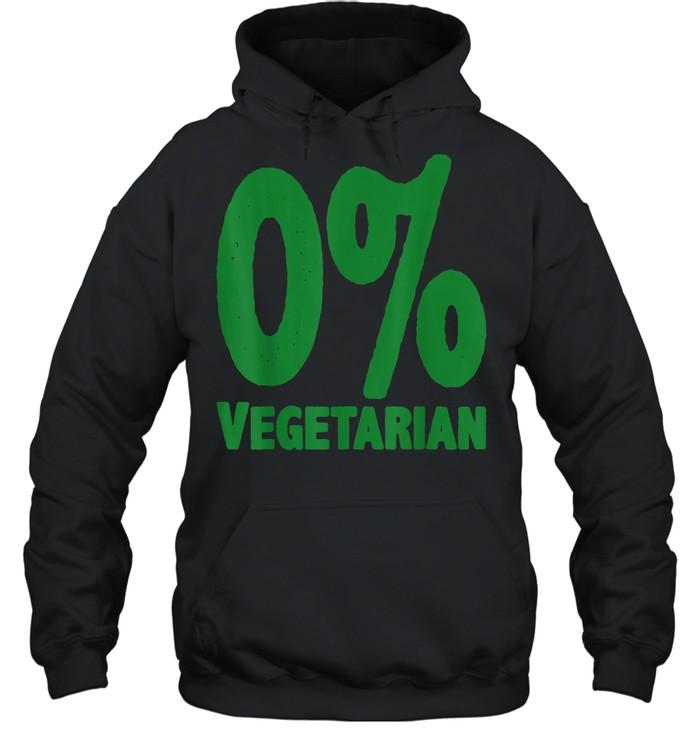0% Vegetarian  Unisex Hoodie