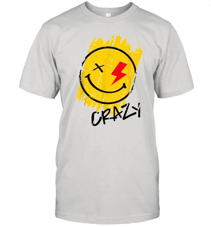 Crazy Happy Smiley Face Noveltys & Cool Designs shirt Classic Men's T-shirt