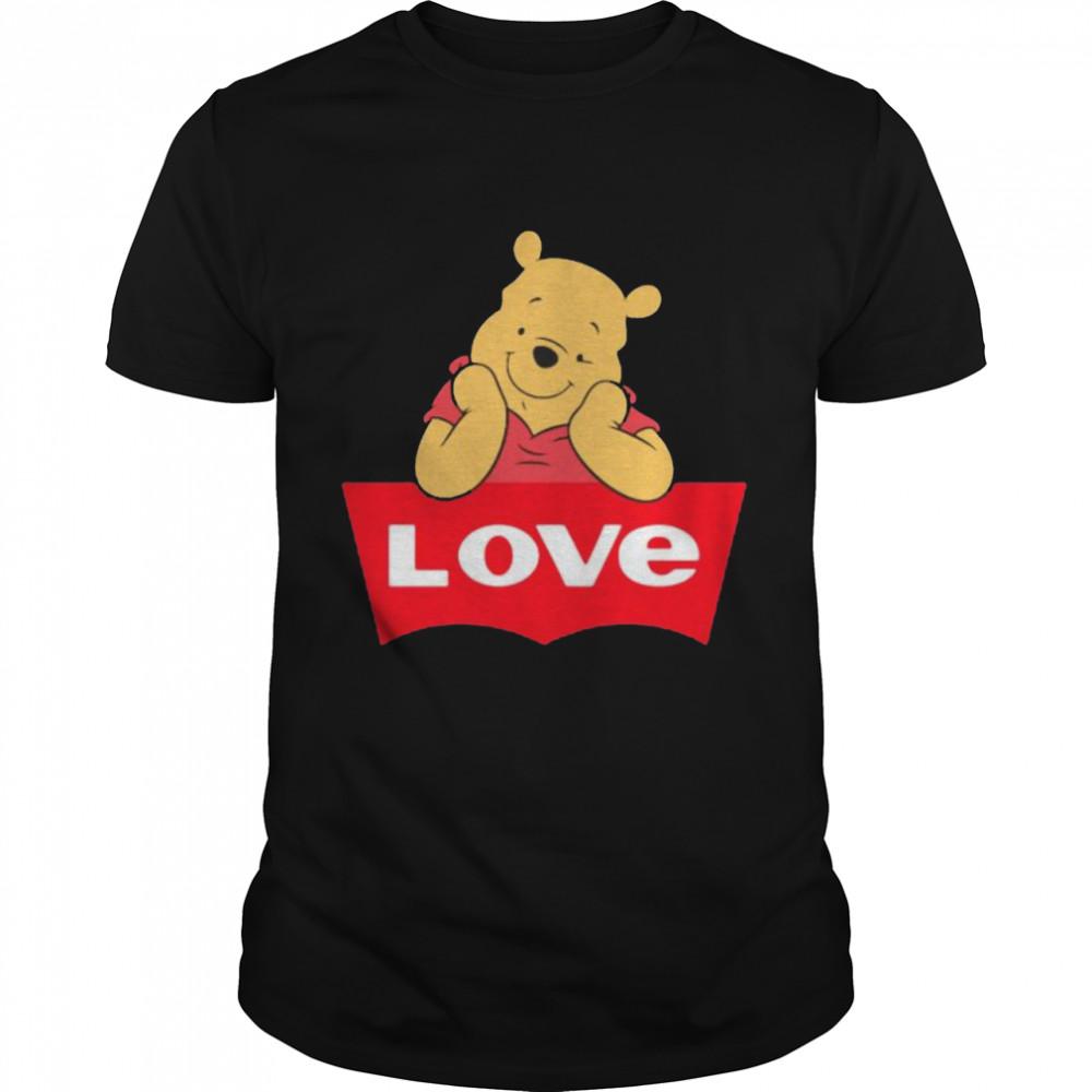 Love Pooh Bear  Classic Men's T-shirt