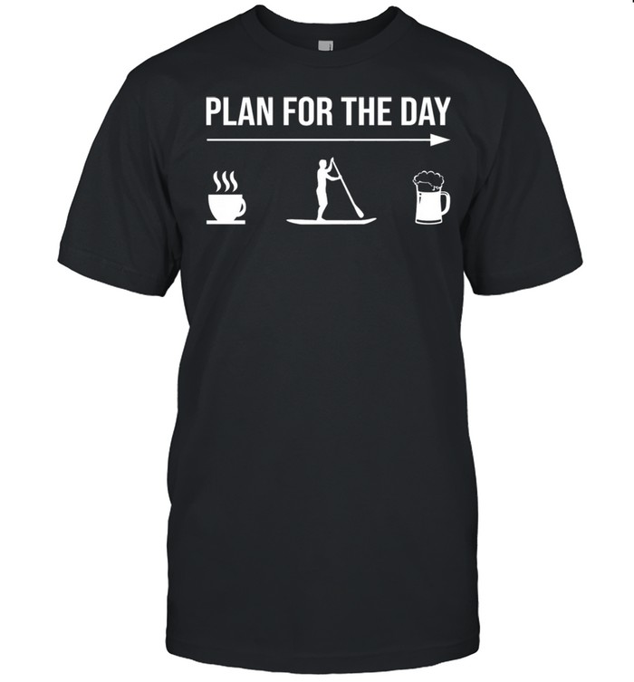 Plan For The Day Coffee Rowing Beer shirt Classic Men's T-shirt