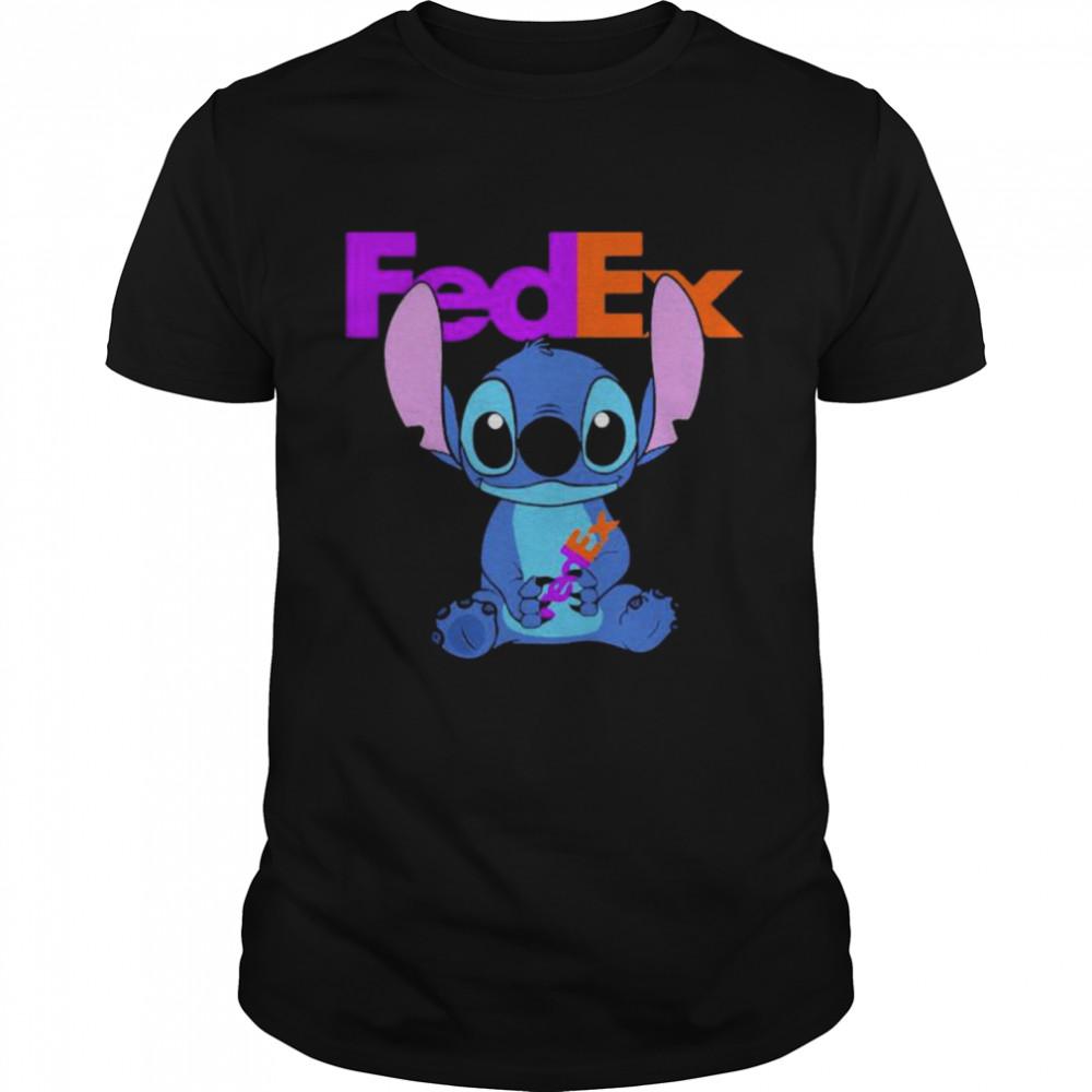 Stitch Hug Fedex Logo  Classic Men's T-shirt