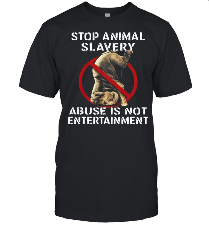 Stop Animal Slavery Abuse Is Not Entertainment shirt Classic Men's T-shirt