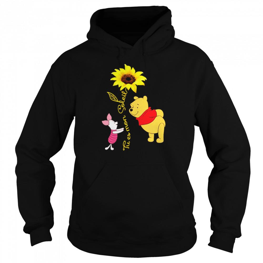 Tu Es Mon Soleil Pooh And Piglet Sunflower  Unisex Hoodie