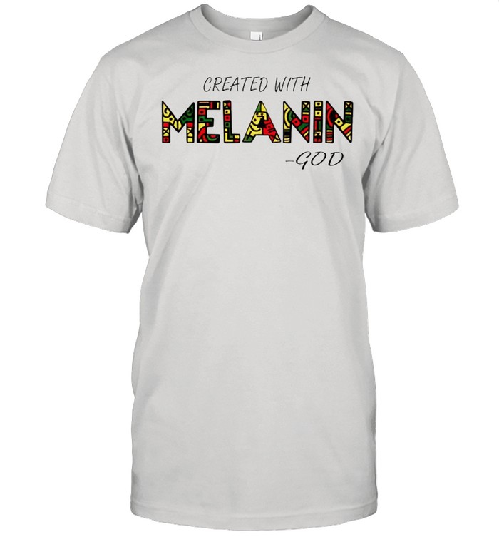 Created with Melanin God shirt Classic Men's T-shirt