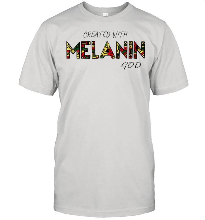 Created with Melanin God shirt Classic Men's T-shirt