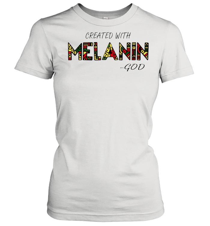 Created with Melanin God shirt Classic Women's T-shirt