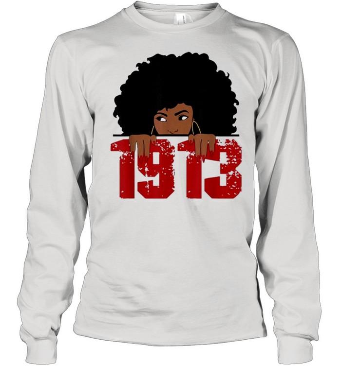 Delta 1913 sorority sigma friend paraphernalia shirt Long Sleeved T-shirt