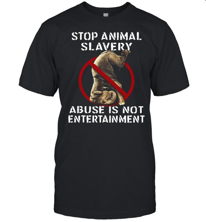 Elephant Stop Animal Slavery Abuse Is Not Entertainment Women's shirt Classic Men's T-shirt