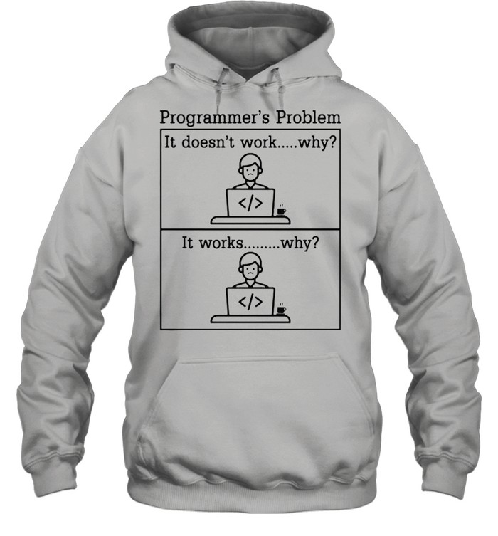 Programmers problem it doesnt work shirt Unisex Hoodie