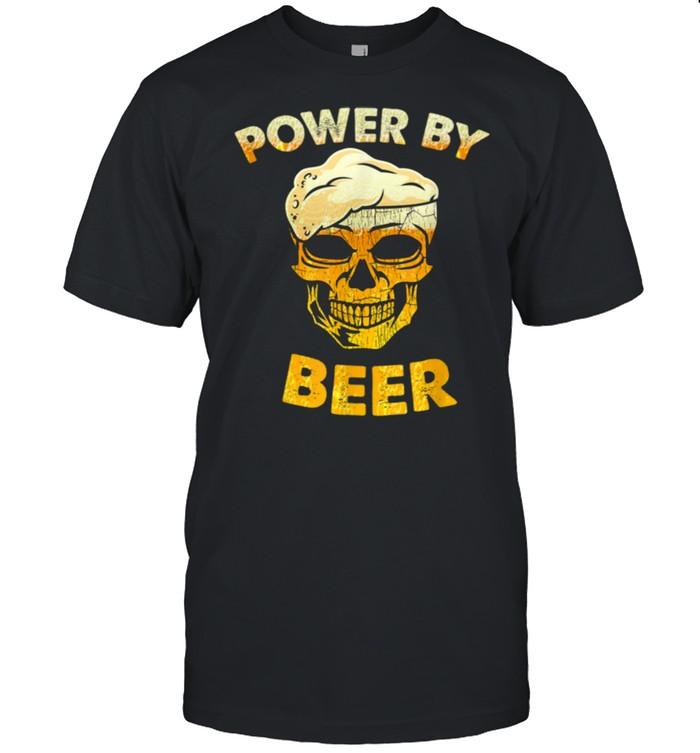 Skull Powered by beer shirt Classic Men's T-shirt