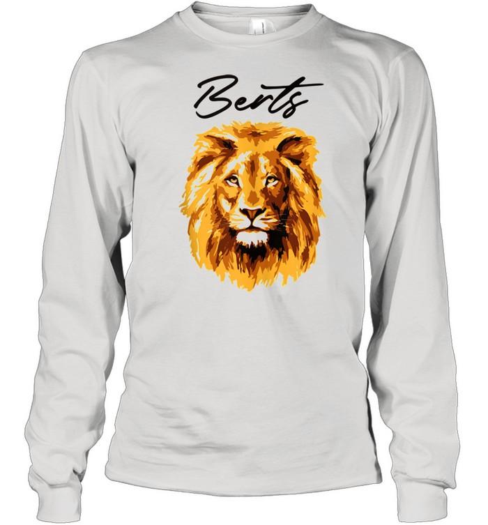 3D Lion Art By Berts shirt Long Sleeved T-shirt