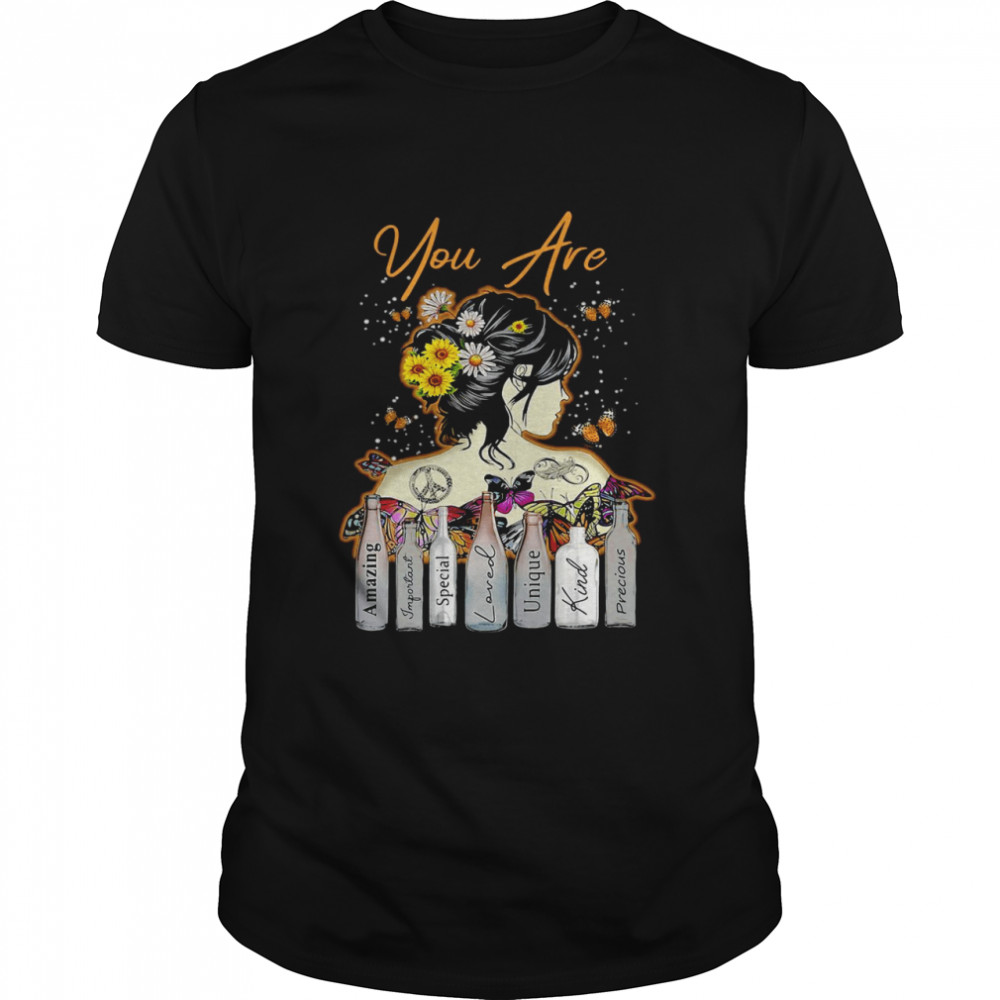 Girl Sunflower You Are Amazing Important Special Loved Unique Kind Precious T-shirt Classic Men's T-shirt