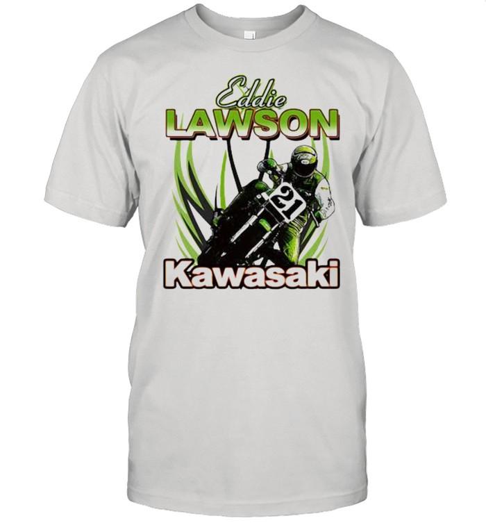 Eddie Lawson Kawasaki King Of The Mountain World Champion Motorcycle  Classic Men's T-shirt