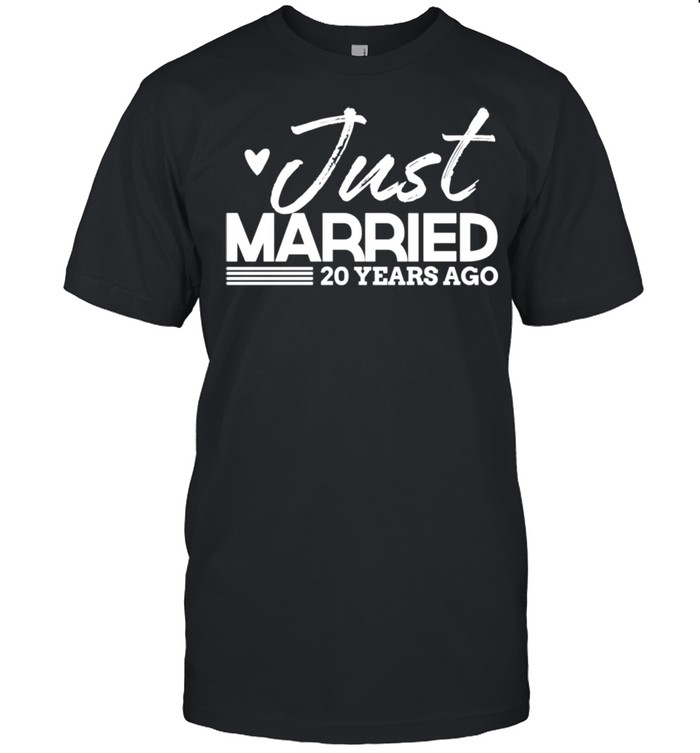 Just Married 20 Year Anniversary & Outfit shirt Classic Men's T-shirt
