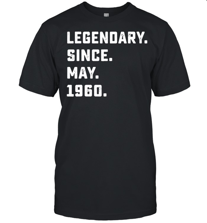 Legendary Since May 1960 61th Birthday For 61 Years Old shirt Classic Men's T-shirt
