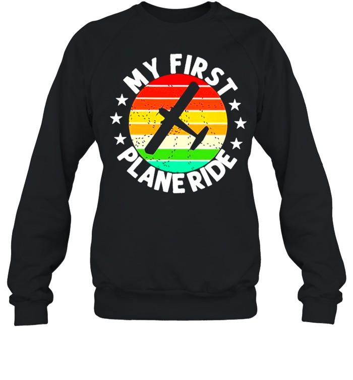 My First Plane Ride Retro Vintage shirt Unisex Sweatshirt