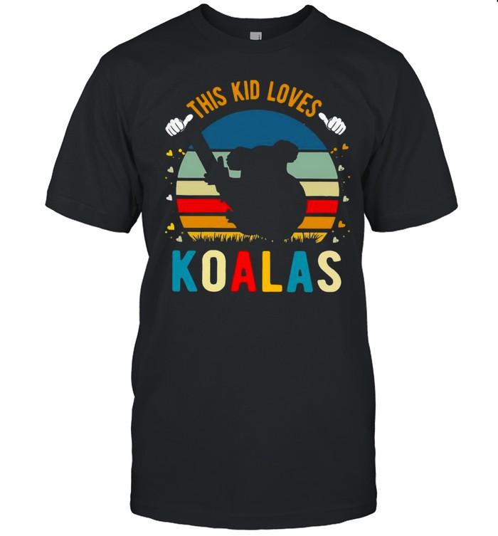 This Kid Loves Koalas Vintage Retro shirt