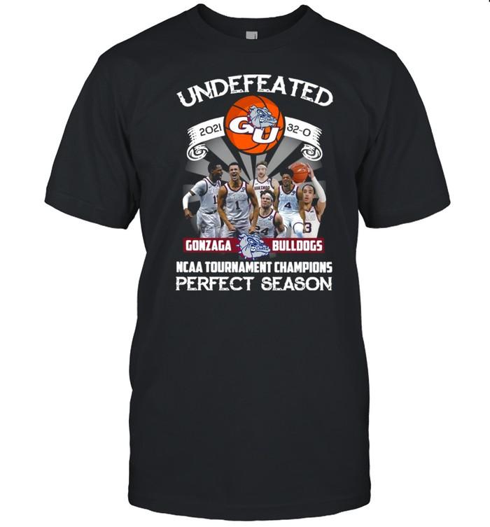 Undefeated 2021 32-0 Gonzaga Bulldogs Ncaa Tournament Champions Perfect Season  Classic Men's T-shirt