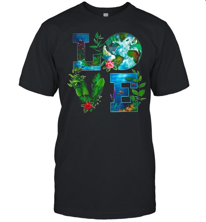 Love Earth Happy Earth Day 2021 shirt Classic Men's T-shirt