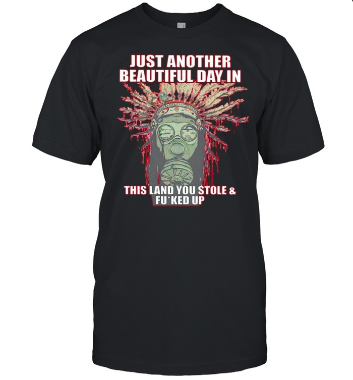 Native American just another beautiful day in this land shirt