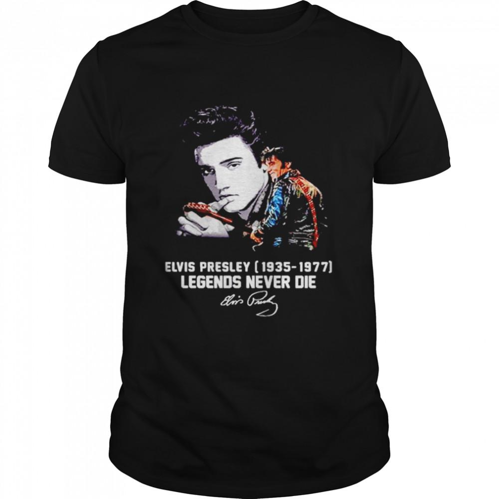 Elvis Presley 1935-1977 Legends Never Die Signatures  Classic Men's T-shirt