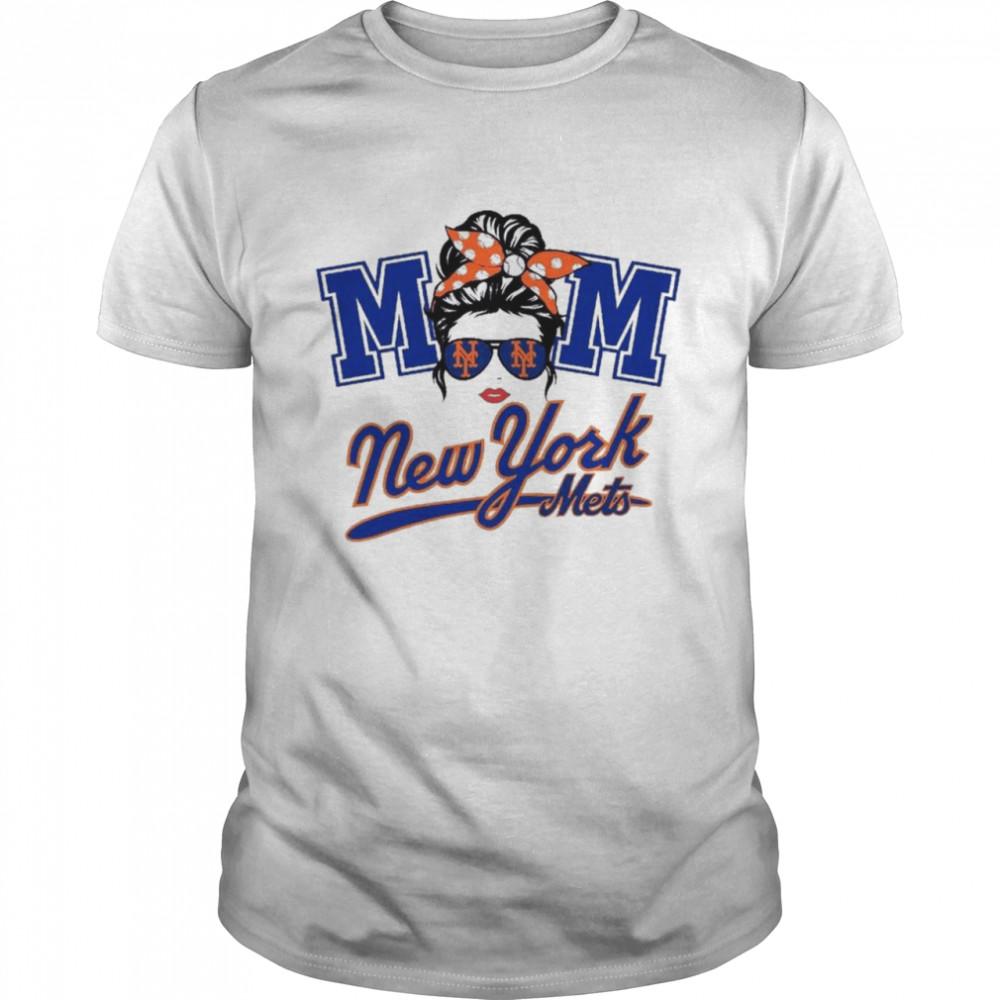 Mom Skull New York Mets Baseball shirt Classic Men's T-shirt