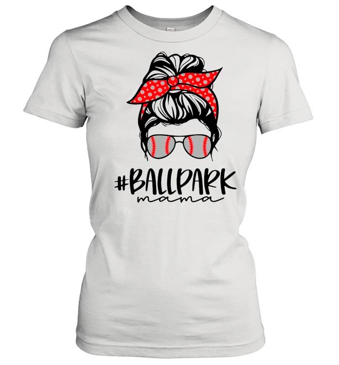 Ball Park Mama Baseball Softball Mothers Day Mom shirt Classic Women's T-shirt
