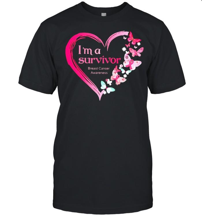 Butterfly Im a survivor breast cancer awareness shirt Classic Men's T-shirt