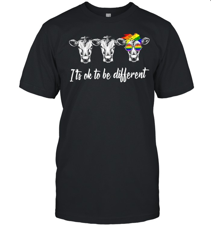 LGBT Cows its ok to be different shirt Classic Men's T-shirt