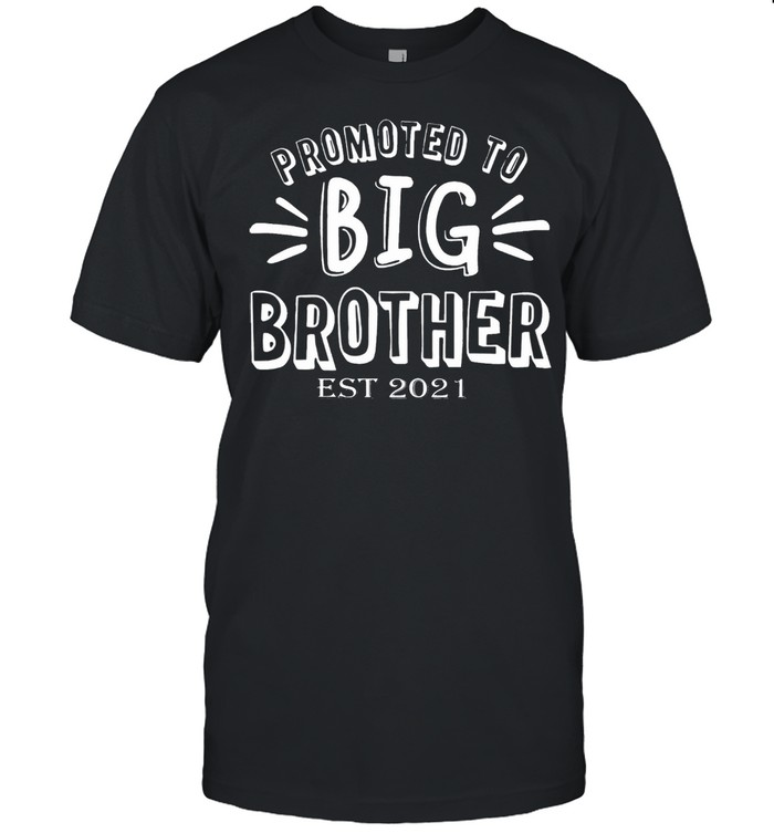 Promoted to big brother est 2021 shirt Classic Men's T-shirt
