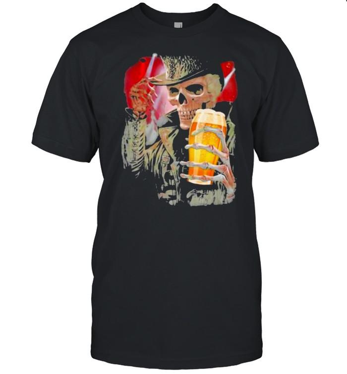 Skull Hello Darkness Beer  Classic Men's T-shirt