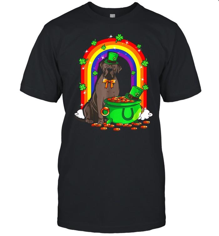 St Patrick's Day Cane Corso Dog Pot Of Gold Rainbow shirt Classic Men's T-shirt