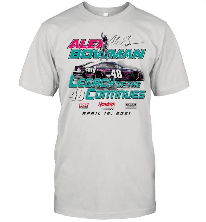 Alex Bowman legacy of the continues shirt Classic Men's T-shirt