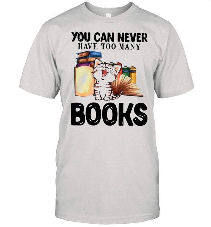 Cat You Can Never Have Too Many Book shirt Classic Men's T-shirt