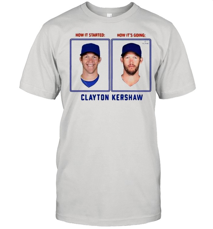 Clayton Kershaw Then And Now Los Angeles  Classic Men's T-shirt