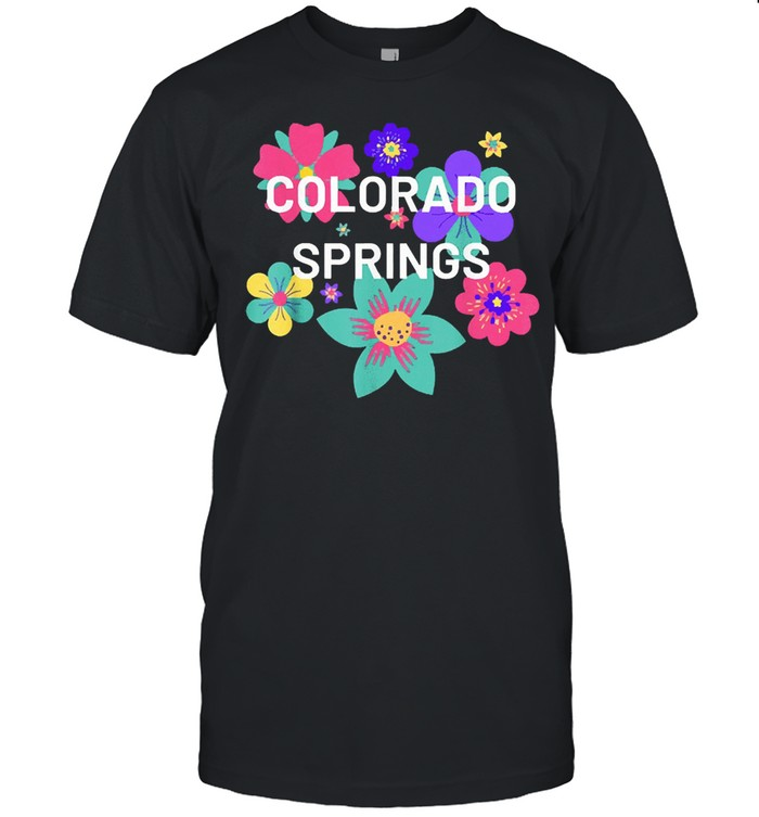 Colorado springs floral souvenir shirt Classic Men's T-shirt